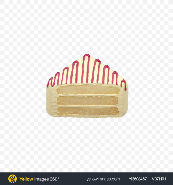 Download Half of White Petit Four Transparent PNG on Yellow Images 360°
