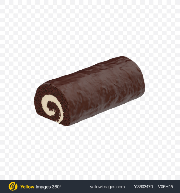 Download Chocolate Swiss Roll Transparent PNG on Yellow Images 360°