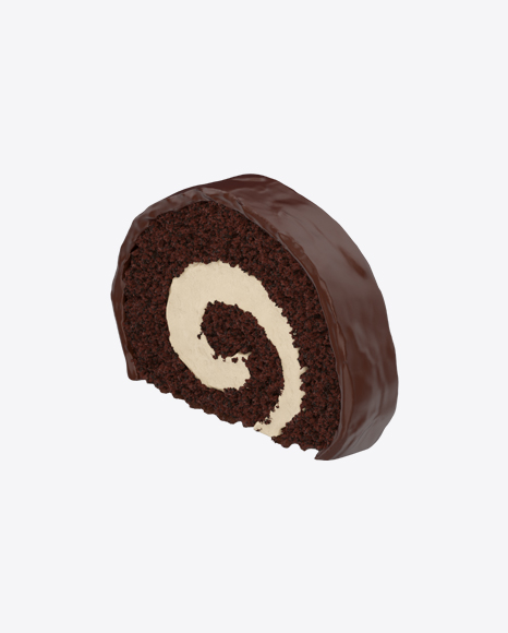 Chocolate Swiss Roll Slice
