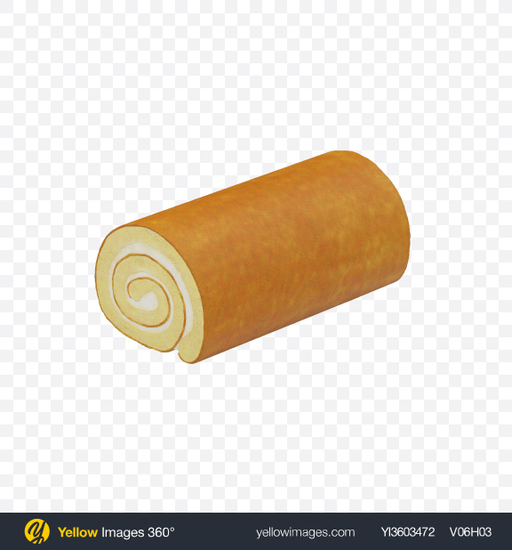 Download Vanilla Swiss Roll Transparent PNG on Yellow Images 360°