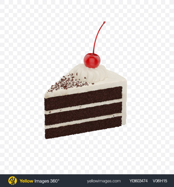 Download Black Forest Cake Slice Transparent PNG on Yellow Images 360°