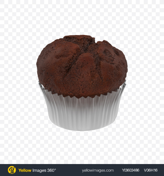Download Chocolate Muffin Transparent PNG on Yellow Images 360°