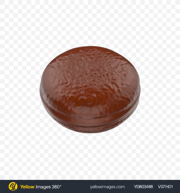 Download Chocolate Coated Snack Cake Transparent PNG on Yellow Images 360°