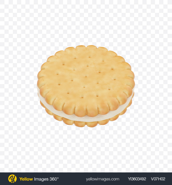 Download Double Biscuit with Marshmallow Transparent PNG on Yellow Images 360°