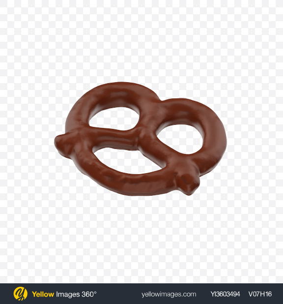 Download Chocolate Glazed Mini Pretzel Transparent PNG on Yellow Images 360°