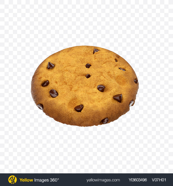 Download Chocolate Chip Cookie Transparent PNG on Yellow Images 360°