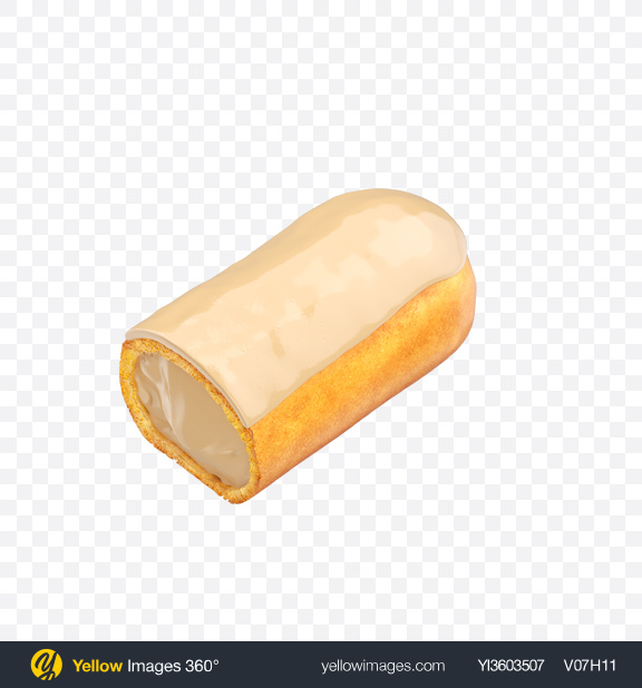Download Half of Vanilla Eclair Transparent PNG on Yellow Images 360°