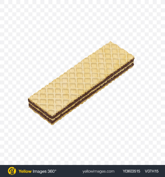 Download Wafer with Chocolate Cream Transparent PNG on Yellow Images 360°