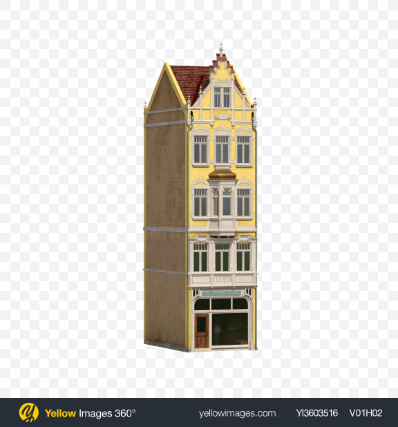 Download Suburb Building Transparent PNG on Yellow Images 360°
