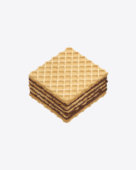 Squre Wafer with Chocolate Cream