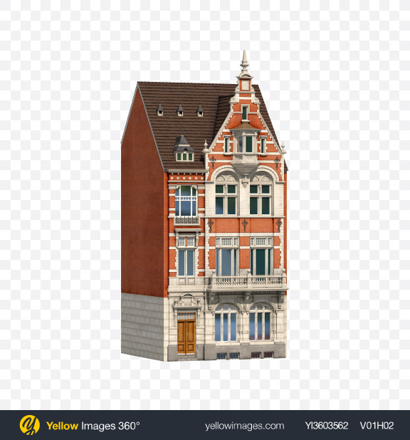 Download Dutch Building Transparent PNG on Yellow Images 360°