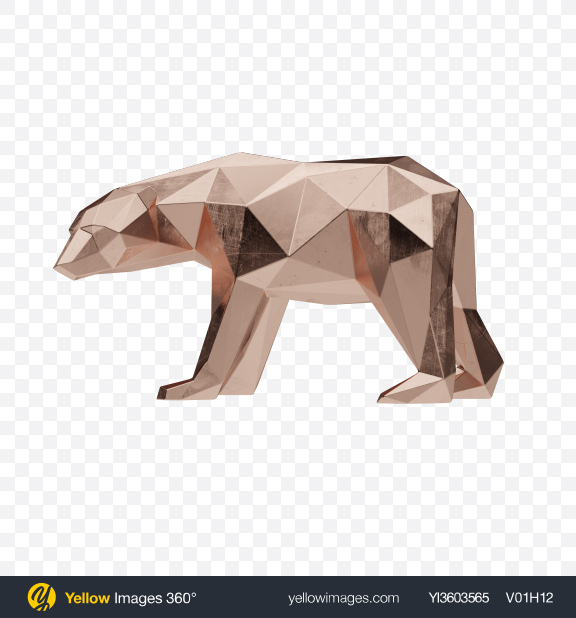 Download Polar Bear Figurine Transparent PNG on YELLOW Images