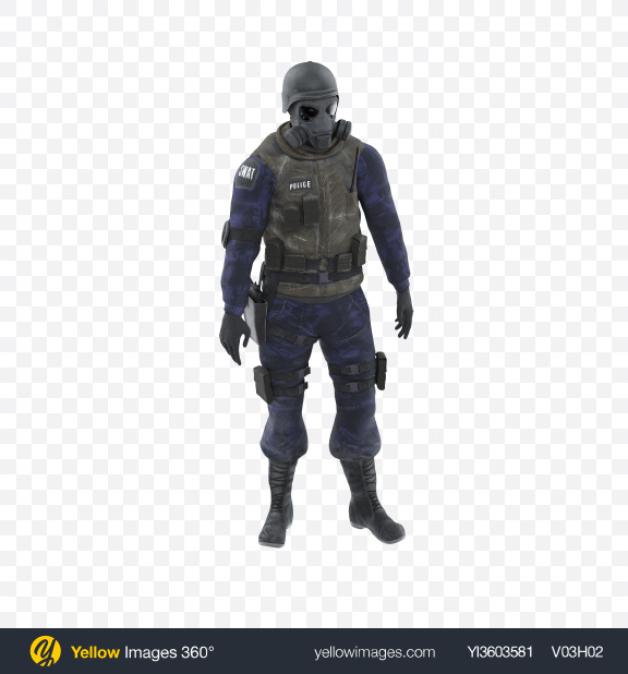 Download SWAT Uniform Transparent PNG on Yellow Images 360°