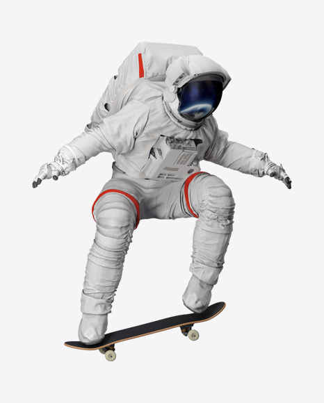 Astronaut on Skateboard