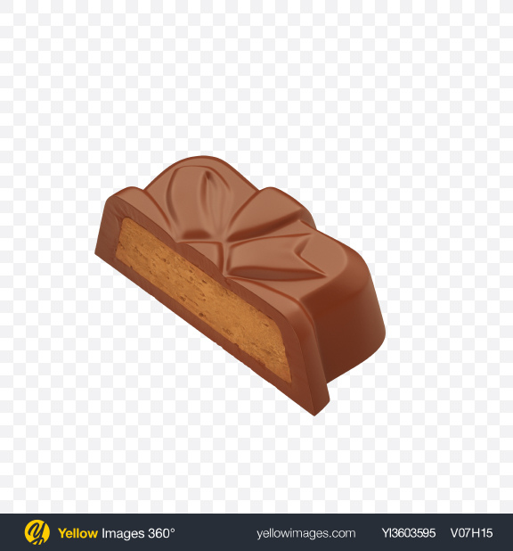 Download Half of Milk Chocolate Candy Transparent PNG on YELLOW Images