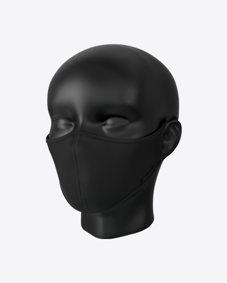 Black Face Mask with Mannequin