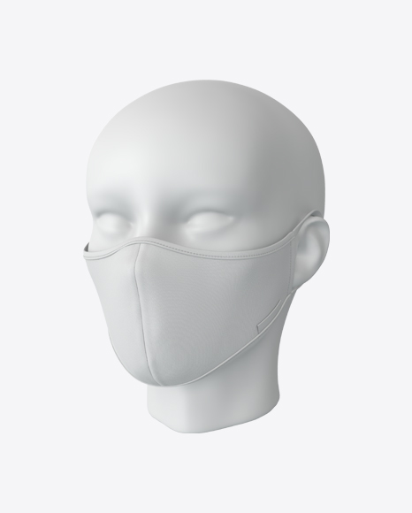 White Face Mask with Mannequin