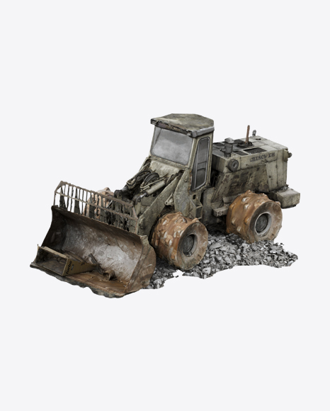 Damaged  Tractor