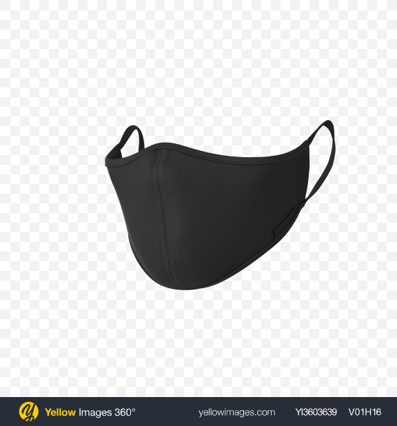 Download Black Face Mask Transparent PNG on Yellow Images 360°