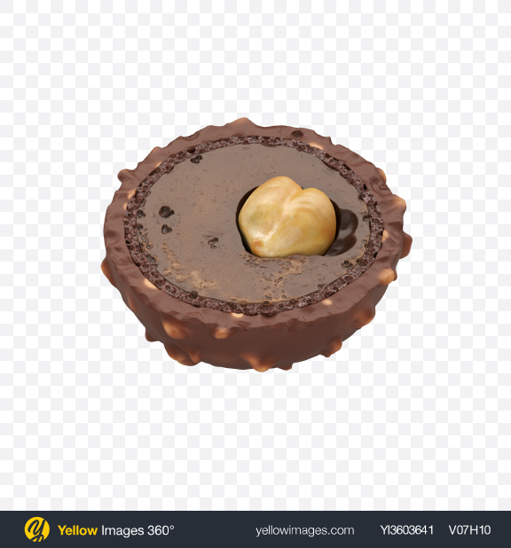 Download Half of Chocolate Candy Transparent PNG on Yellow Images 360°