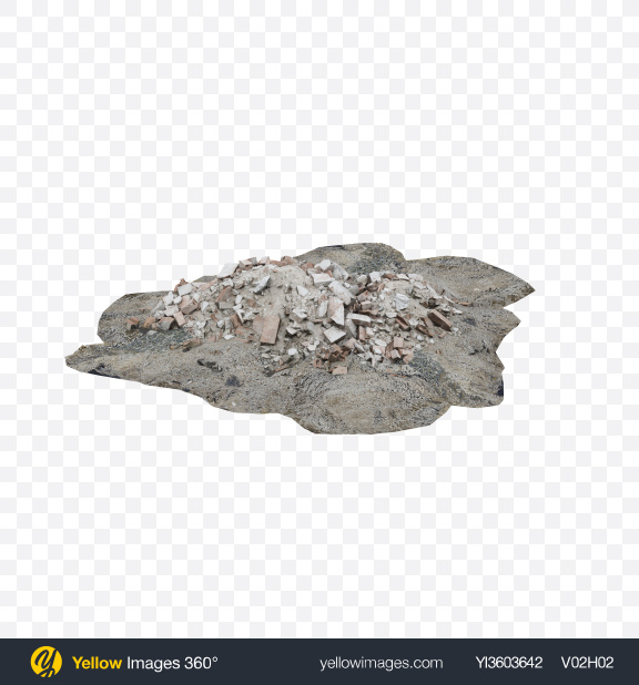 Download Rubble Pile Transparent PNG on Yellow Images 360°