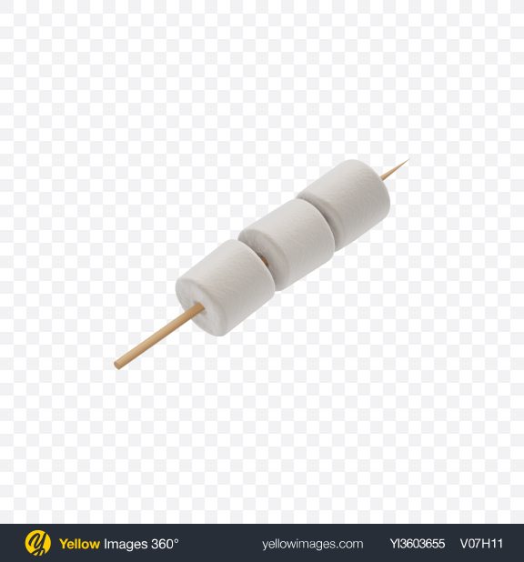 Download Marshmallows on a Stick Transparent PNG on Yellow Images 360°