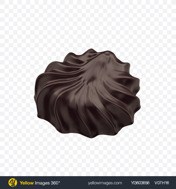 Download Chocolate Coated Marshmallow Transparent PNG on Yellow Images 360°