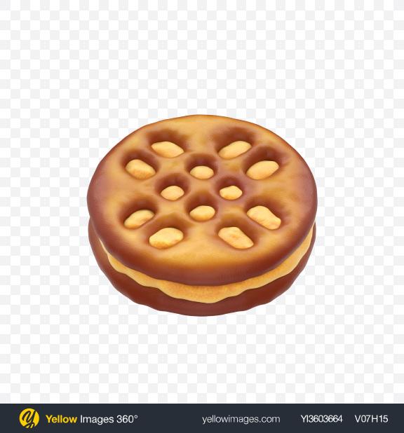 Download Mini Pretzel Sandwich Transparent PNG on Yellow Images 360°