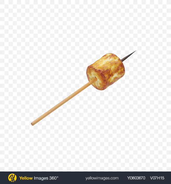 Download Roasted Marshmallow Transparent PNG on Yellow Images 360°