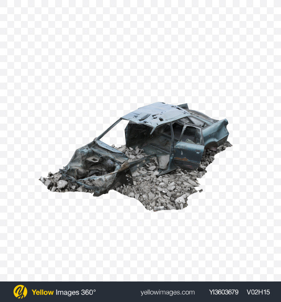 Download Damaged Car Transparent PNG on Yellow Images 360°