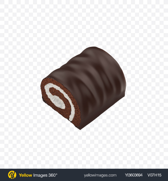 Download Half of Mini Swiss Roll Transparent PNG on YELLOW Images