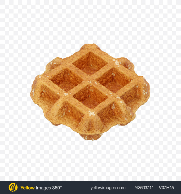 Download Belgian Waffle Transparent PNG on Yellow Images 360°