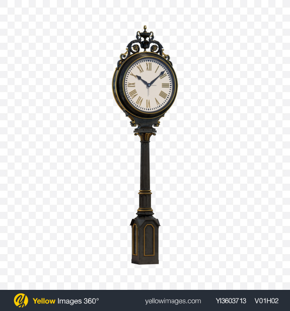 Download Vintage Street Clock Transparent PNG on PNG Images