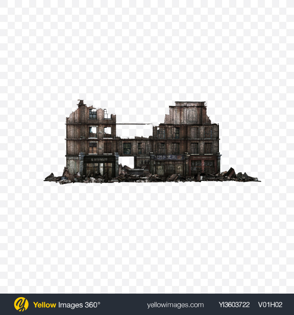 Download Ruined Building Transparent PNG on Yellow Images 360°