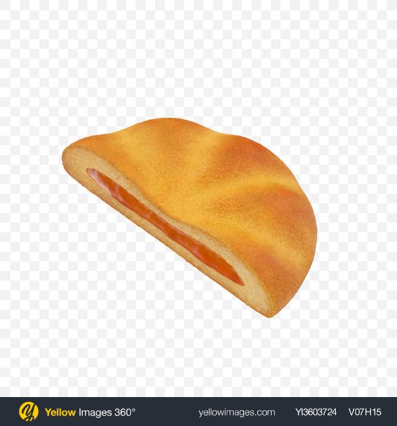 Download Half of Jam Filled Cookie Transparent PNG on Yellow Images 360°