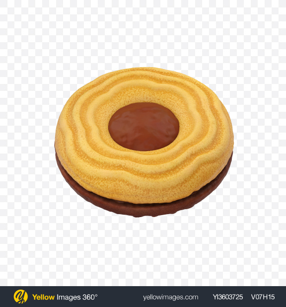 Download Double Cookie Transparent PNG on Yellow Images 360°