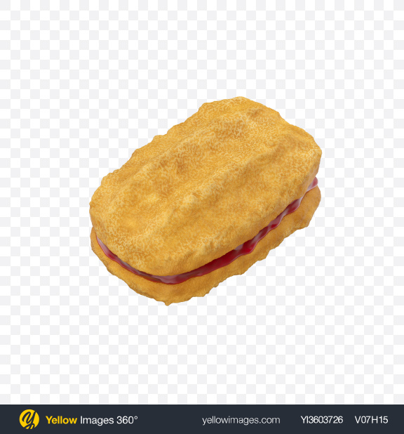 Download Jam Filled Cookie Sandwich Transparent PNG on Yellow Images 360°