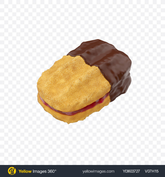 Download Chocolate Dipped Cookie Sandwich Transparent PNG on Yellow Images 360°
