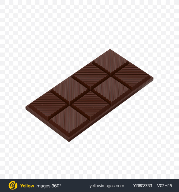 Download Chocolate Bar Transparent PNG on Yellow Images 360°