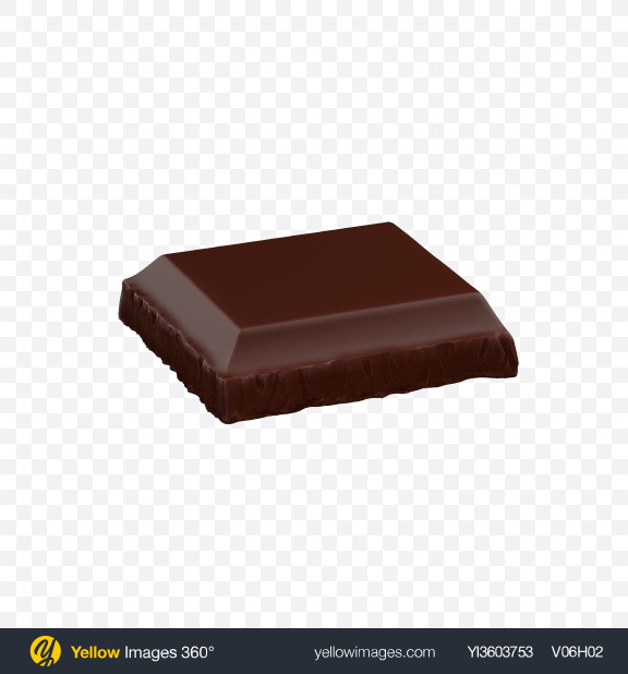 Download Dark Chocolate Bar Piece Transparent PNG on Yellow Images 360°