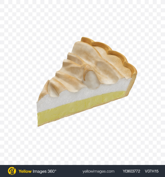 Download Lemon Pie Slice Transparent PNG on Yellow Images 360°