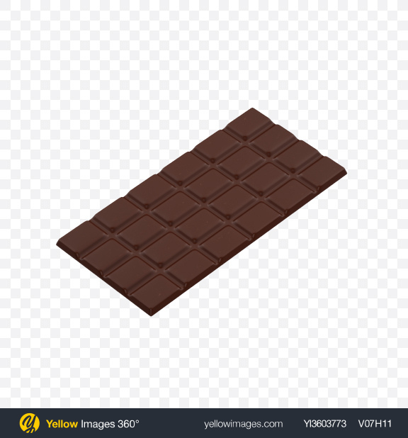 Download Dark Chocolate Bar Transparent PNG on Yellow Images 360°