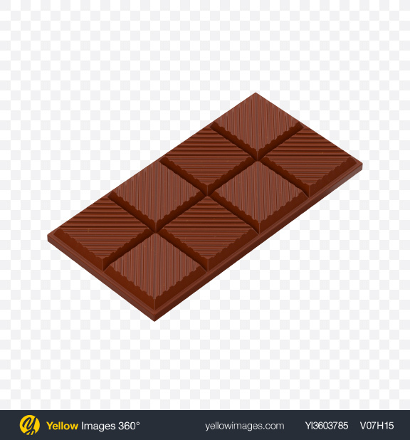 Download Milk Chocolate Bar Transparent PNG on Yellow Images 360°