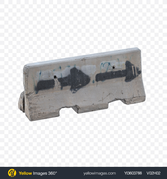 Download Concrete Barrier Transparent PNG on Yellow Images 360°