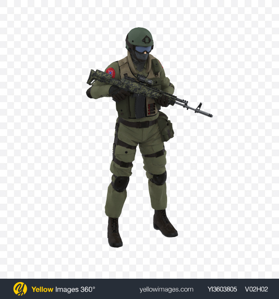 Download Infantry Soldier Transparent PNG on Yellow Images 360°
