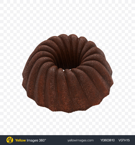 Download Chocolate Bundt Cake Transparent PNG on Yellow Images 360°