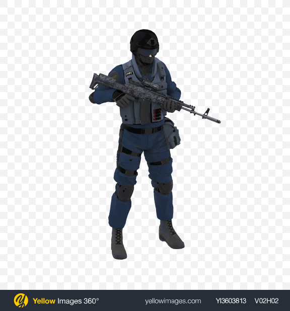 Download Swat Soldier Transparent PNG on Yellow Images 360°