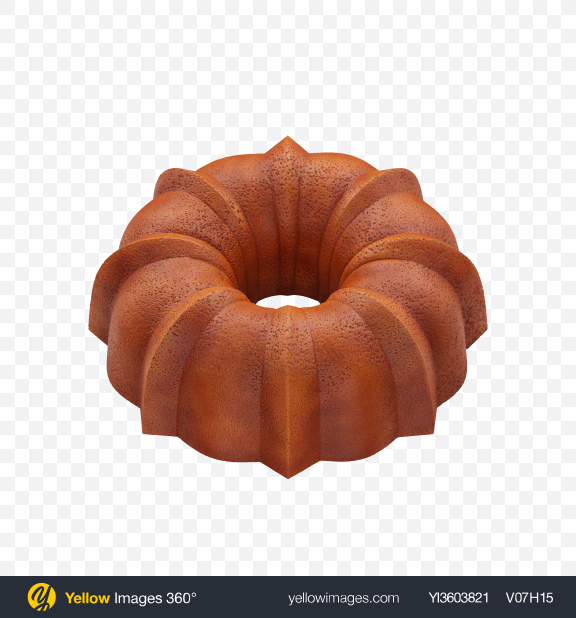 Download Bundt Cake Transparent PNG on Yellow Images 360°