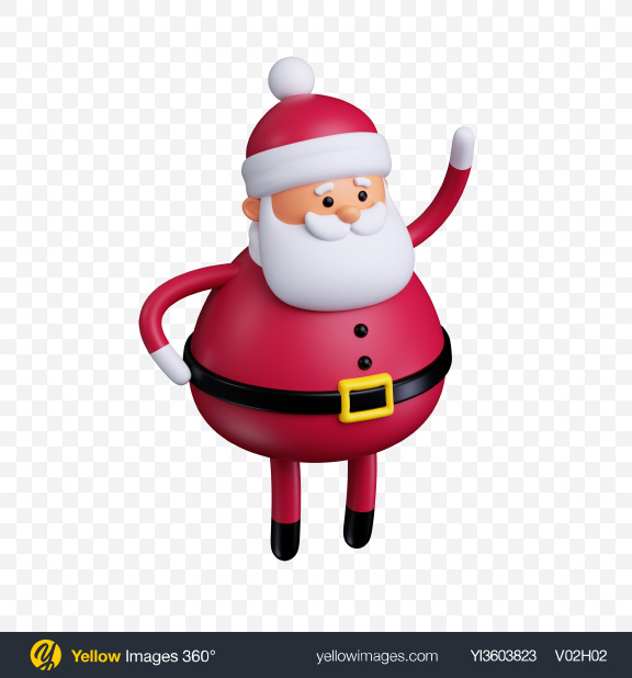 Download Santa Claus Toy Transparent PNG on Yellow Images 360°