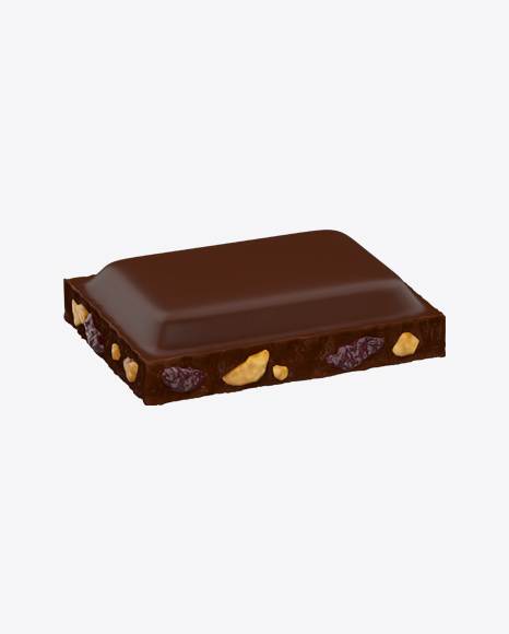 Dark Chocolate Piece with Nuts and Raisins